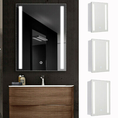 Anti-fog Bathroom LED Mirror Cabinet With Touch Sensor Switch And Shaver Socket • 158.95£