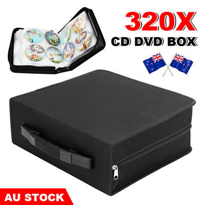AU21.95 • Buy 320 Black Wallet CD Case DISC DVD Holder Folder Storage Album Organizer VCD Bag