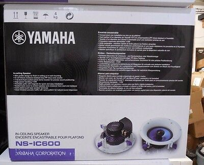 AU148.84 • Buy Yamaha NS-IC600 2-Way In-Ceiling Speaker System White ( Pair ) NSIC600