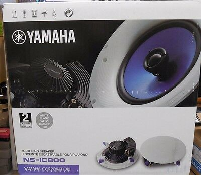 AU182.49 • Buy YAMAHA NS-IC800 NSIC800 8 Inches,140-Watts 2-Way IN CEILING SPEAKERS (ONE PAIR)