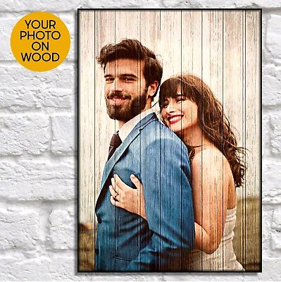 Personalised Gifts For Him Anniversary Gifts For Boyfriend Wood Picture Frame • 16.50£