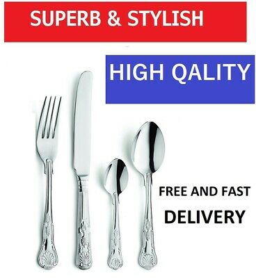 Cutlery Set King 4 12 16 20 24 32 44  60 64 Pcs For Tableware Stainless Steel  • 16.99£
