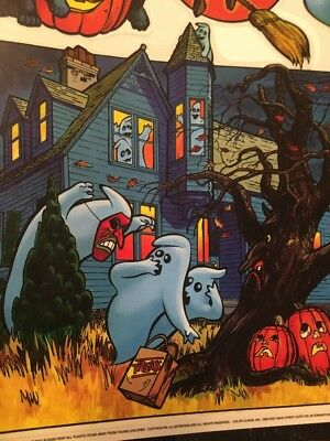 $ CDN36.53 • Buy Vintage Color Clings Halloween Window Decorations-haunted House-witch & More