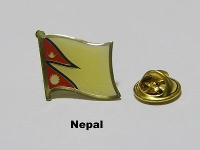 Spilla Pin Badge Flag Bandiera Nazione Country NEPAL • 2.14£