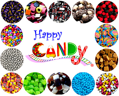 Retro Sweets By Happy Candy® PICK N MIX 400g -  250 Flavours XMAS BLACK FRIDAY • 7.95£