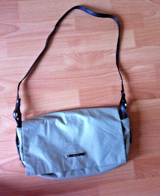 MEXX Handbag With Long Adjustable Shoulder Strap Pockets Satchell Bag Beige • 5.95£