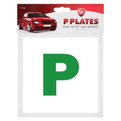 Pack Of 2 Aa Fully Magnetic Secure Green New Driver P Plates Just Passed Car • 1.25£