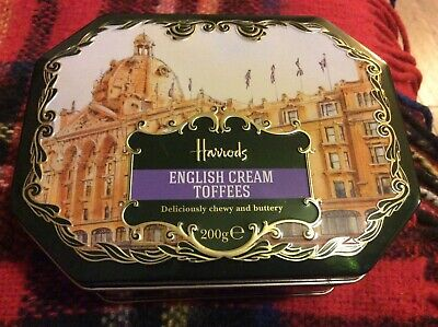 British Harrods Empty Sweet Enligh Cream Toffees Tin Container Superb Condition  • 9.99£
