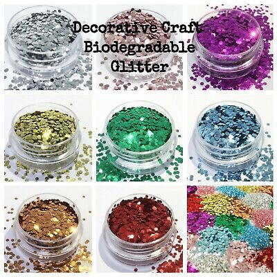 Biodegradable Glitter Decorative Craft Schools Eco Bulk Packs Vegan Eco Glitter • 1.95£