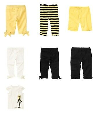 $12.99 • Buy NWT Gymboree Bee Chic Yellow Striped 12-18, Girl Shirt, Black Ruffle Leggings 4T