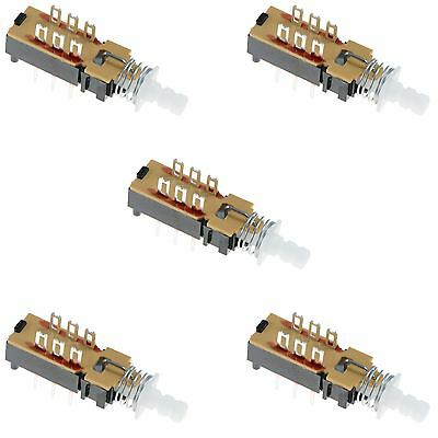 5 X DPDT Changeover Push Button Latching PCB Switch • 2.49£