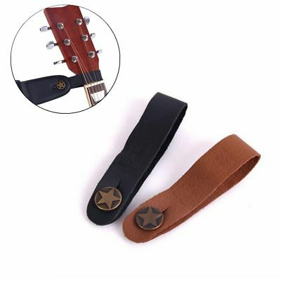 $ CDN4.41 • Buy Brown Black Genuine Leather Strap Hook Button For Acoustic Folk Classic Guitar