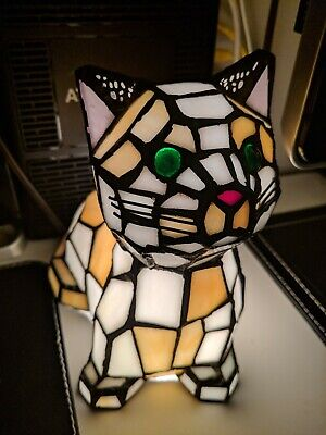 Stained Glass Cat Lamp Compare Prices On Dealsan Com