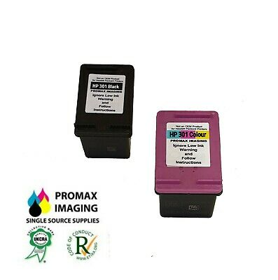£23.45 • Buy Remanufactured HP 301 Black And HP 301 Tri-Colour Ink Cartridge
