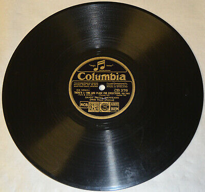 Columbia CB 376 - Savoy Hotel Orpheans - There's A Time And Place For Everything • 18.87£
