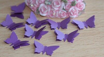 £4.95 • Buy 50 Cadbury Purple Shimmer Butterfly Confetti, Wedding Stationery Cards Toppers