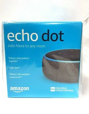 AU64.99 • Buy Amazon Echo Dot 3rd Generation Smart Assistant Charcoal Fabric Speaker Alexa