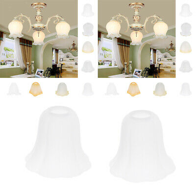 2x Glass Hanging Light Lampshade Bedside Lamp Light Shade For Bedroom • 14.21£