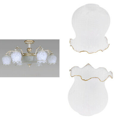 2pc Glass Hanging Light Lampshade Bedside Lamp Light Shade For Bedroom • 17.94£