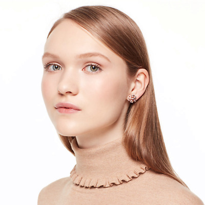 $ CDN35.82 • Buy Kate Spade New York Rose 🌹 Gold Bourgeois Bow Pave Stud Earrings