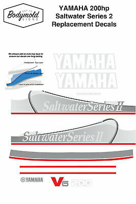 AU110 • Buy YAMAHA 200hp Saltwater Series 2 Replacement Outboard Decals
