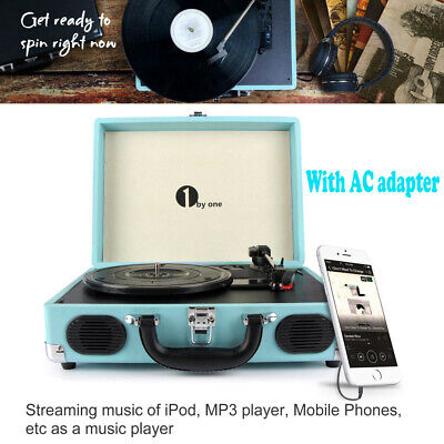 AU109.99 • Buy 1Byone Briefcase Record Player Suitcase Vintage Turntable 3 Speed Speaker New