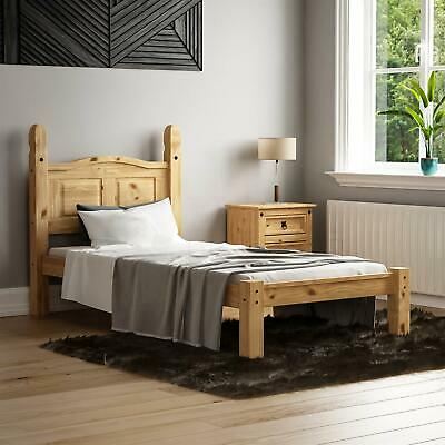 £124.95 • Buy Corona Single Bed 3ft Low Foot End Mexican Solid Pine Frame Bedroom Furniture