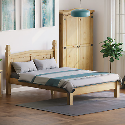 £149.95 • Buy Corona Double Bed 4ft6 Low Foot End Mexican Solid Pine Frame Bedroom Furniture