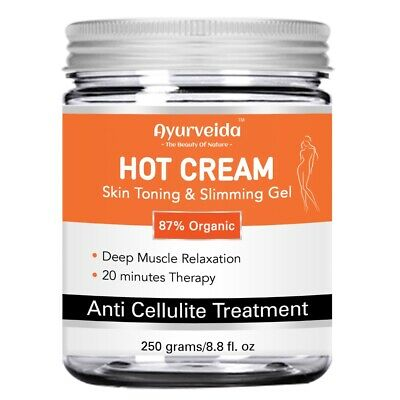 Anti Cellulite Hot Cream-Gel Slimming-Deep Muscle Relaxation-Loss Weight - 250ML • 13.99£