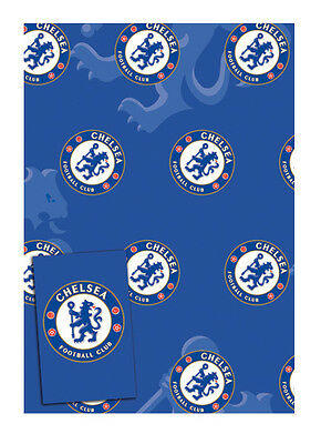 Chelsea Football Gift Wrap Pack,  2 X Wrapping Paper Sheets & Gift Tags - FREE P • 1.99£
