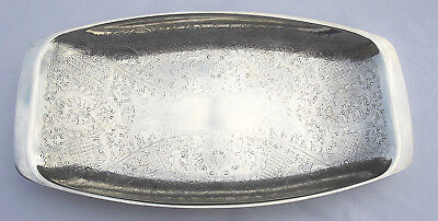 £13.99 • Buy Vintage Silver Plated Bread Tray Serving Tray Engraved Dish Made By Cavalier