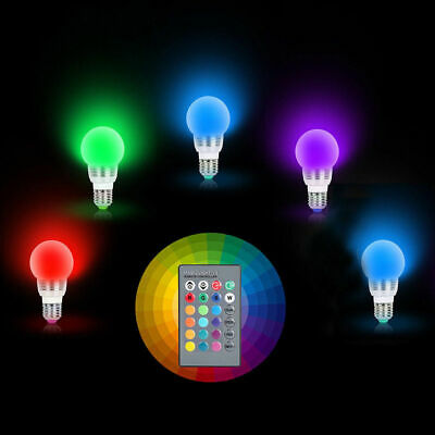 £8.99 • Buy Multi Coloured Remote Controlled Light Bulb 16 Colour Changing Adaptor A++