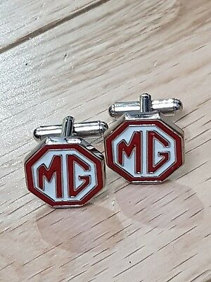 £7.50 • Buy Silver MG  Cufflinks Formal Wear Business Wedding Gift For Suit Shirt Sports