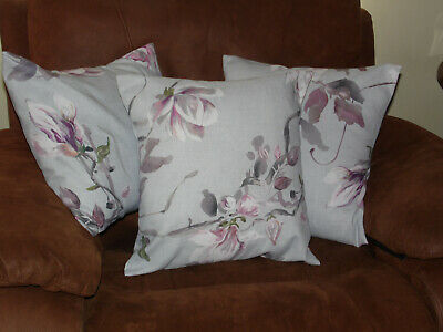 3 X John Lewis Serena Magnolia Cushion Covers Fits 18  Insert Lovely  • 22.99£