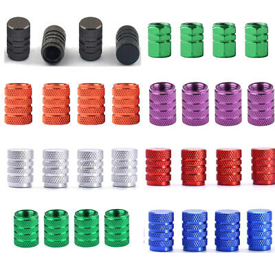 $ CDN1.29 • Buy 4pcs Wheel Tyre Tire Valve Stem Air Dust Cover Screw Cap Car Truck Bike 7 Colors