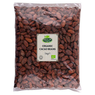 £16.55 • Buy Organic Cacao Beans 1kg Certified Organic