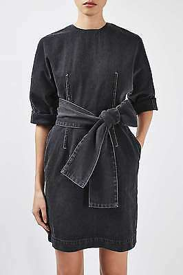 £24.64 • Buy Topshop BOUTIQUE Dome Sleeve Denim Belted Bow Dress UK 8 10 12 / 36 38 40 BNWT