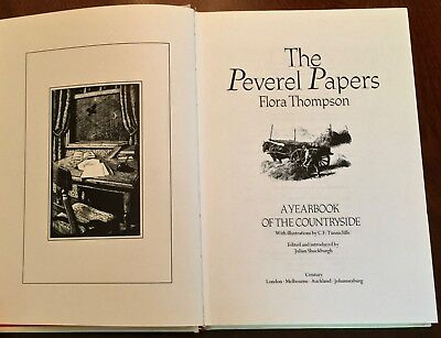 'THE PEVEREL PAPERS' By Flora THOMPSON : Illustrated By C.F. TUNNICLIFFE : 1986. • 19.80£