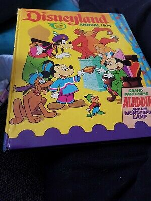 The Disneyland Annual 1974 X GOOD CONDITION FOR AGE X 1711 X • 5.80£
