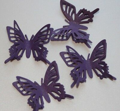 £2.85 • Buy 3d Cadbury Purple Pearl Butterflies. Wedding Stationery, Cards, Crafts, Toppers