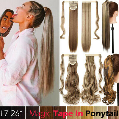 £8.09 • Buy Real Thick As Human Hair Wrap Around Ponytail Pony Tail Clip In Hair Extension T