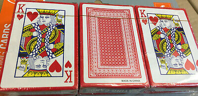 Playing Cards Poker Plastic Coated Magic Tricks Games Casino PACK 1-2-3 • 1.99£