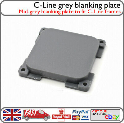C-Line 1 Way Blanking Blank Plate Faceplate For C-Line Frames VW Motorhome CL1.3 • 3.49£