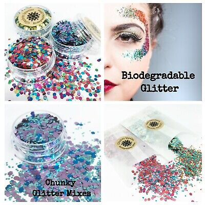 £2.95 • Buy Biodegradable Glitter Cosmetic Eco Chunky Mix Festival Party Make Up Body