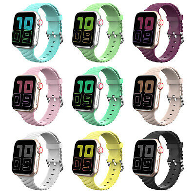 $ CDN7.32 • Buy New Replacement Silicone Sport Band IWatch Strap For Apple Watch Series 5/4/3/2