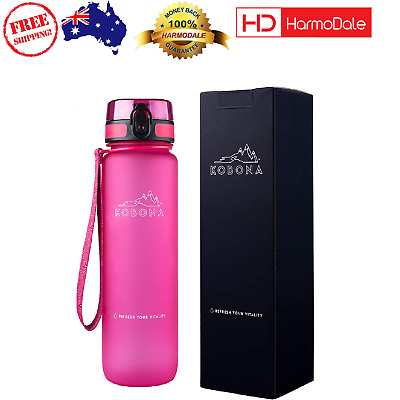 AU37.01 • Buy KOBONA 1 Litre Motivational Smart Water Bottle BPA Free  Hydration NEW AU
