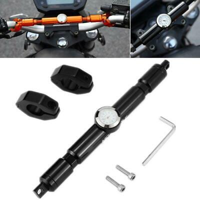 $20.99 • Buy Black Motorcycle Handle Drag Bar Post Bracket Mount W/ Watch For Charger Light