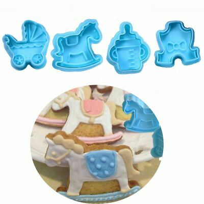 £3.56 • Buy Plunger Cake Decor Kitchen Pastry Mould Baby Biscuit Mold Fondant Cookie Cutter
