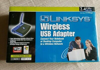 $10 • Buy LINKSYS WIRELESS USB NETWORK ADAPTER 2.4 GHz 802.11b Model WUSB11 Ver 2.6 New