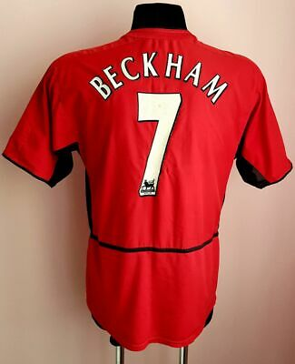90296ce321d Manchester United 2002~04 Nike Football Home Shirt Jersey Beckham  7 Epl  Patches •